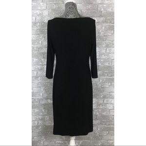 Ralph Lauren Dresses - RALPH LAUREN 3/4 Sleeve Sheath Black Dress Size 10